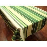 Mantel Antimanchas de Poliéster - Modelo RAYAS - Verde