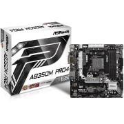 MB, ASRock AB350M PRO4 R2.0 /AMD B350/ DDR4/ AM4