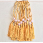 A5 Wedding Tassels for Menu Cards, Wedding Invitations, Order of Service Cards, Gold shade