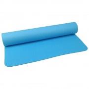Екологична Постелкa за Йога с Дръжка за пренасяне, Синя