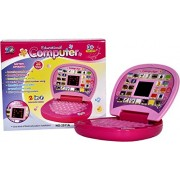 Educational Computer With Led Screen mini laptop Toy For Kids (Multicolor)