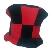 Black and Red Checkered Mad Hatter Top Hat