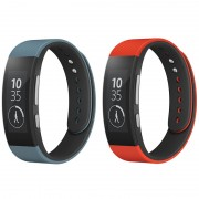 Correias de Pulso SWR310 da Sony para SmartBand Talk - L - Vermelho %26 Azul