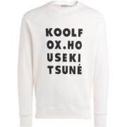 MAISON KITSUNÈ Felpa Maison Kitsuné bianca con stampa Kool Fox