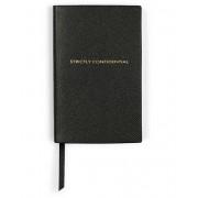 Smythson Panama Notebook Strictly Confidential Black