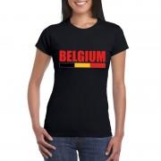 Shoppartners Zwart Belgium supporter shirt dames