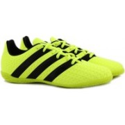 ADIDAS ACE 16.4 IN Football Shoes For Men(Black, Green)