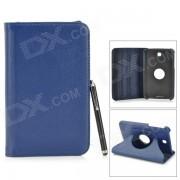 Funda protectora de cuero con estuche para Samsung Tab 3 7.0 T210 / T211 / P3200 / P3210 - Azul oscuro