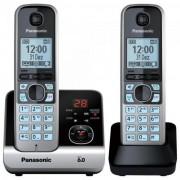 Telefone sem Fio com Base + Ramal KX-TG6722 PRETO/PRATA Pana