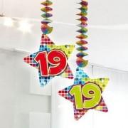 19 jaar hangdecoratie blocks