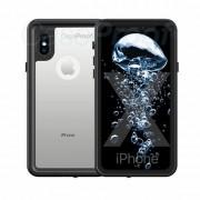 CaseProof Preuve Cas PRO Cas de série étanche iPhone X XS Cas boîtier étanche (3m et 1 h) Transparent Noir