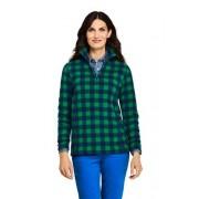 Lands' End Gemusterter Fleece-Pullover mit Reißverschluss - Blau - 40-42 von Lands' End
