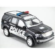 Toyota SUV Off Road Fortuner 911 Police Scale Model Car