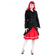 kabát női tavaszi-őszi HEARTS AND ROSES - Black Sassiness - 0902