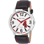 Mark Regal Round White Dail Black Leather Strap Analog Watch For Mens