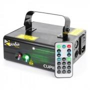 Beamz CUPID лазер с двоен лъч 18 W RG 12-мотива 6-DMX IR дистанционно управление (152.639)