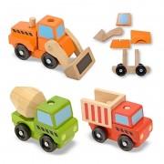 Melissa Doug vehicule utilitare pentru constructii din lemn