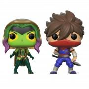 Pop! Vinyl Pack 2 Figuras Pop! Vinyl Gamora vs. Strider - Marvel vs Capcom