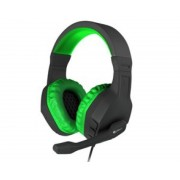 Genesis Auriculares con microfono genesis argon 200 gaming verdes mini jack 3.5mm x2