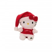 Jemini hello kitty knuffel christmas meisjes rood 20 cm