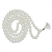 Natural Unheated Original White Sulemani Hakik Mala For Astrological Purpose By Jaipur Gemstone