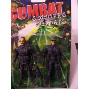 Combat Soldiers 2 Pack ~ Bearded Soldier & Soldier with Cap (Silver)