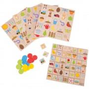 Joc educativ Bingo in gradina, 41 cartonase, 100 jetoane colorate