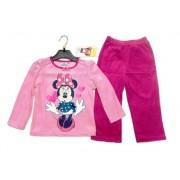 Pijama polar roz Minnie Mouse 3-8ani