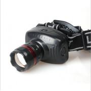 Lanterna Frontala pt Cap LED cu Zoom Reglabil/Flash , Acumulator Reincaarcabil