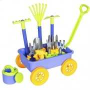 Best Choice Products Garden Wagon With 8 Gardening Tools Fun Kids Toy Play Set