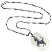 Men Style High Polished Horse Animal Jewellery Silver Stainless Steel 00 Necklace Pendant For Men And Women