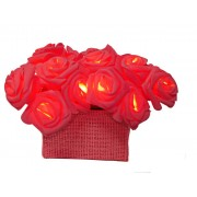 Star Trading Batterdriven LED ljusslinga 15 ljus röda rosor