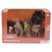 Set 4 figurine Chasmosaurus, Guanlong, Pachycephalosaurus si T-Rex National Geographic, 3 ani+