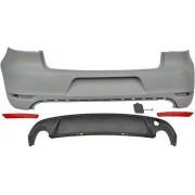 Paraurti posteriore TUNING look GTI per VOLKSWAGEN GOLF 6 VI anni 2008-2012 no sensori con catarifrangenti e diffusore doppio scarico dx sx