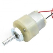 200 RPM 12v DC Center Shaft Gear Motor (with clamp)
