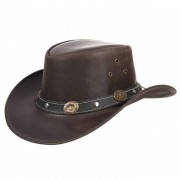 SCIPPIS Cappello da cowboy in pelle by Scippis con tesa larga