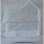 Max 705bí Klec bílá pro ptáky na papoušky 420 x 300 x 520 mm