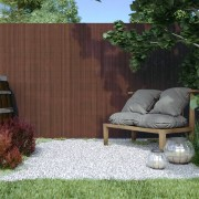 Jarolift Płotek ogrodowy, Brązowy, 100cm x 500cm, PVC