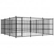vidaXL Външна клетка за кучета, 450x450x185 см