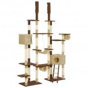 vidaXL barna macskabútor szizál kaparófákkal 234 cm