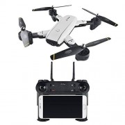 cheerwing Syma X8W FPV Real-time 2.4Ghz 6 Axis Gyro Headless Quadcopter Drone with HD Camera RTF, White