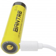 EH BANTRE 3000MAH Batería Recargable De Gran Capacidad 18650 Relacement USB - Amarillo