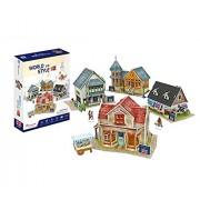 Cubicfun World Architectural House Building Model Kits 3D Puzzle,UK,W3186h 171 Pieces