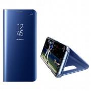 Husa Telefon Huawei P Smart Z / Y9 Prime (2019) Flip Mirror Stand Clear View Albastru