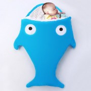 Cute SHARK Estilo Ropa Bolsa De Dormir De Bebe 0 - 6 Meses Baby, Tamaño: 85yard (azul)