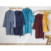 Badjas in badstof met sjaalkraag 450g/m²