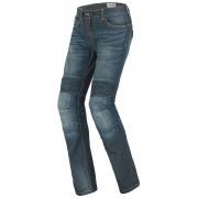 Spidi J&Racing Pantalones vaqueros de las señoras Azul Lavado a la piedra 29