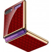 SaharaCase - Luxury Case for Samsung Galaxy Z Flip and Z Flip 5G - Red/Gold
