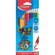 Creioane colorate Color Peps Star 12 culori/set Maped