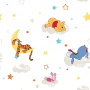 Kids at Home Wallpaper Pooh Rise and Shine White DF70799